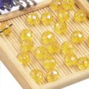 Beads, Selenial Crystal, Crystal, Yellow AB, Faceted Discs, 8mm x 8mm x 6mm, 10 Beads, [ZZC103]